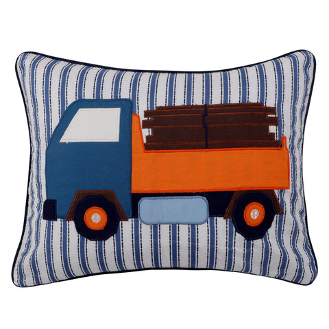 Dominik Appliqued Truck Pillow