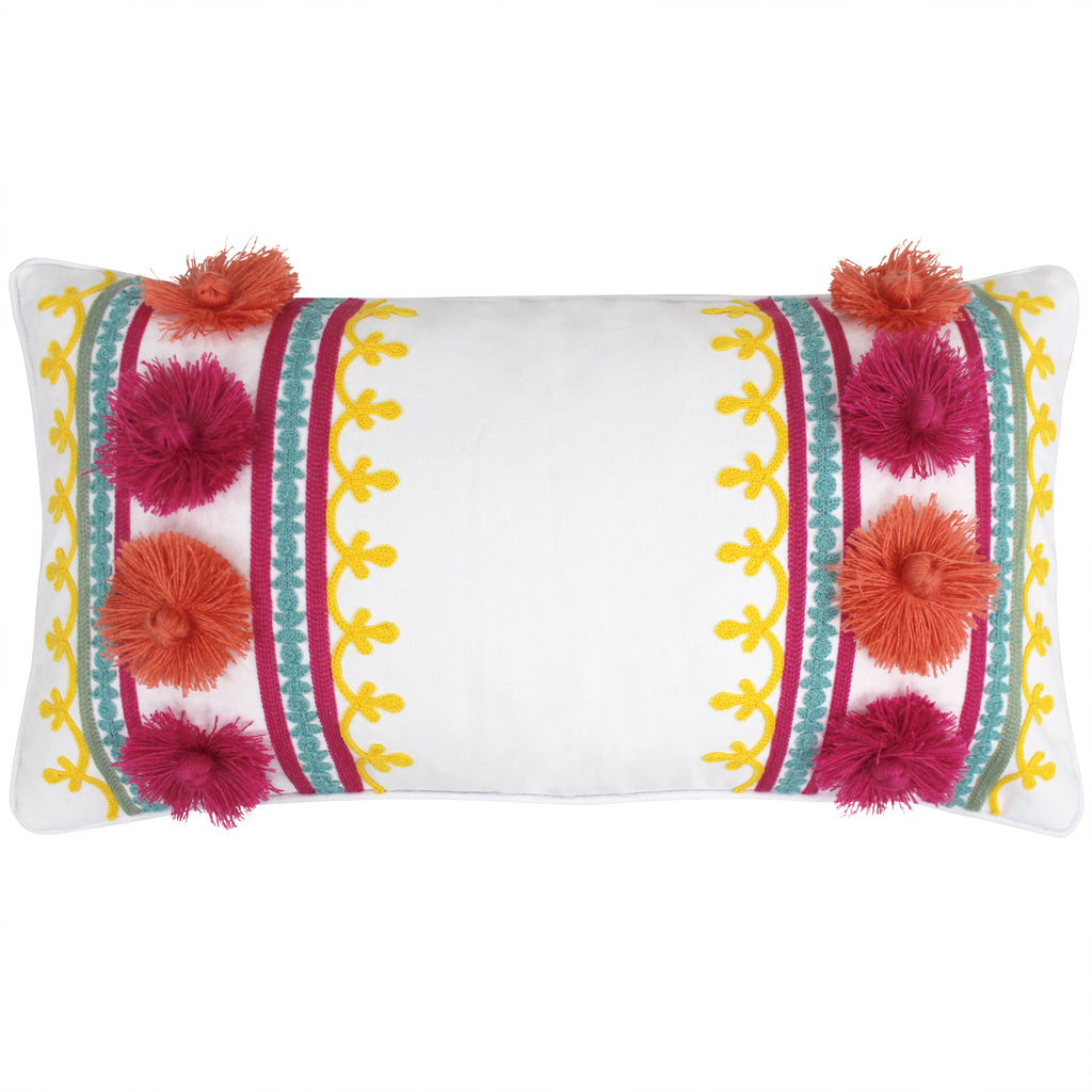 Leora Pom Embroidered Pillow