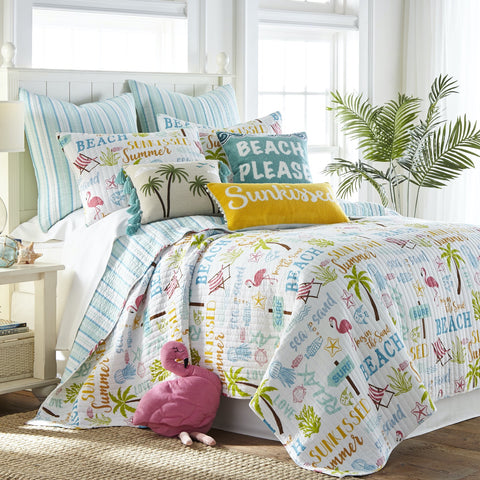 Beach Days Quilt Set