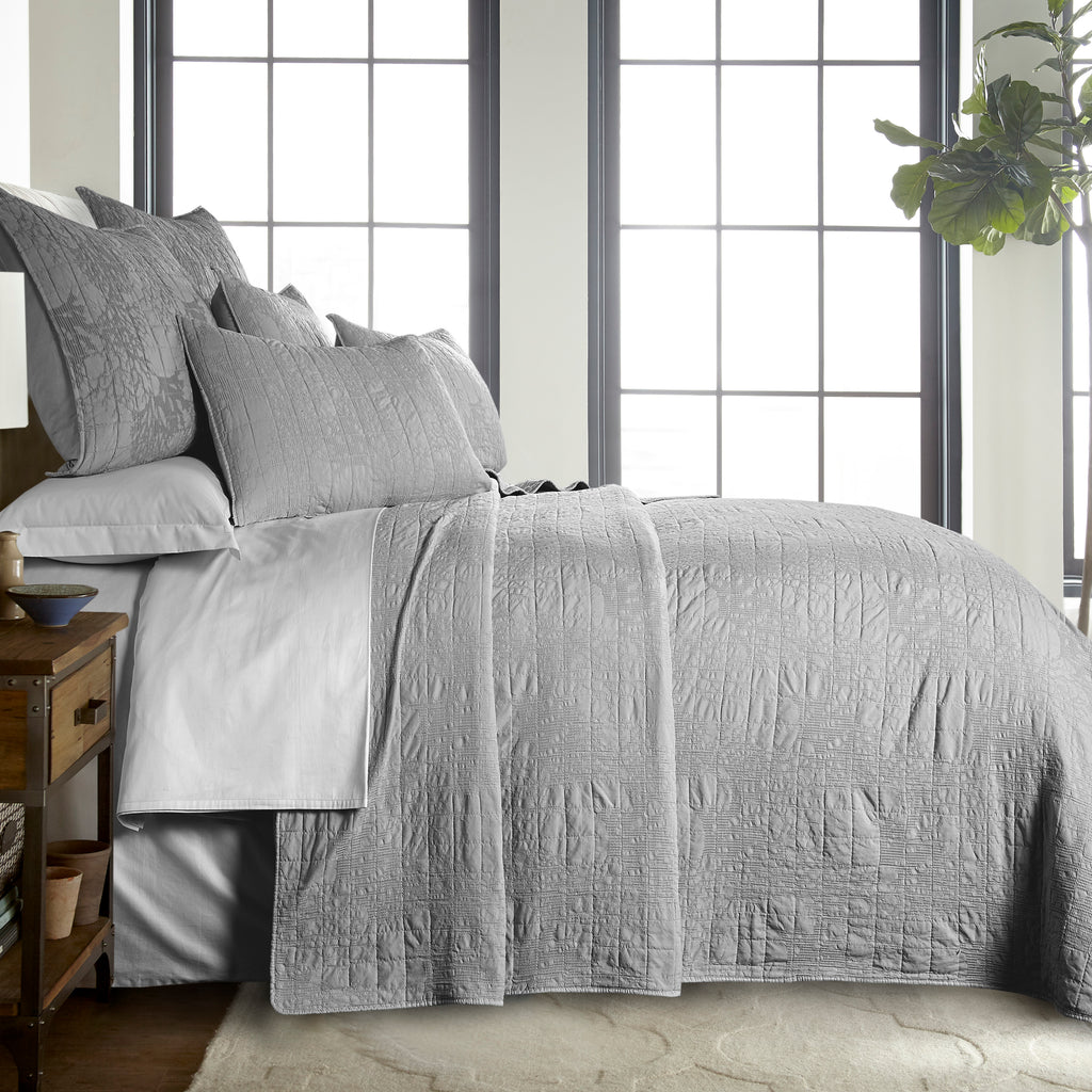 Naples Light Grey Bedspread Set