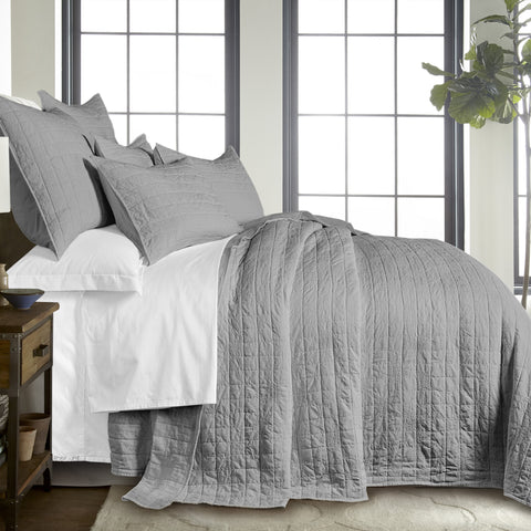 Bowie Light Grey Bedspread Set