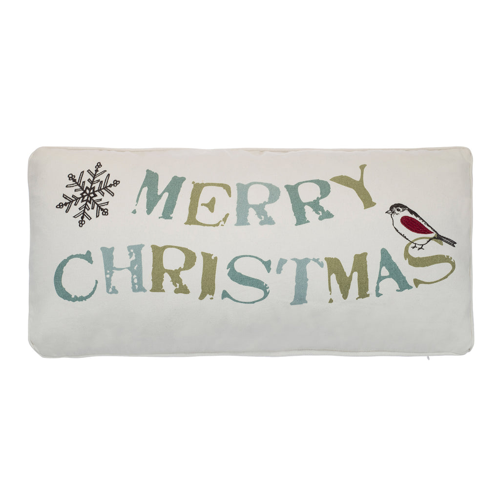 Holly Merry Christmas Pillow