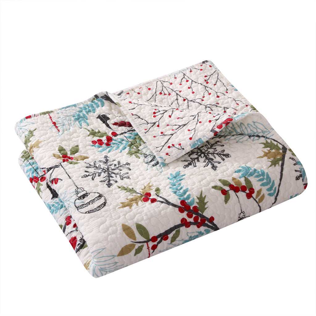 Holly Quilted Throw