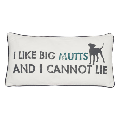I Like Big Mutts 12x24 Pillow