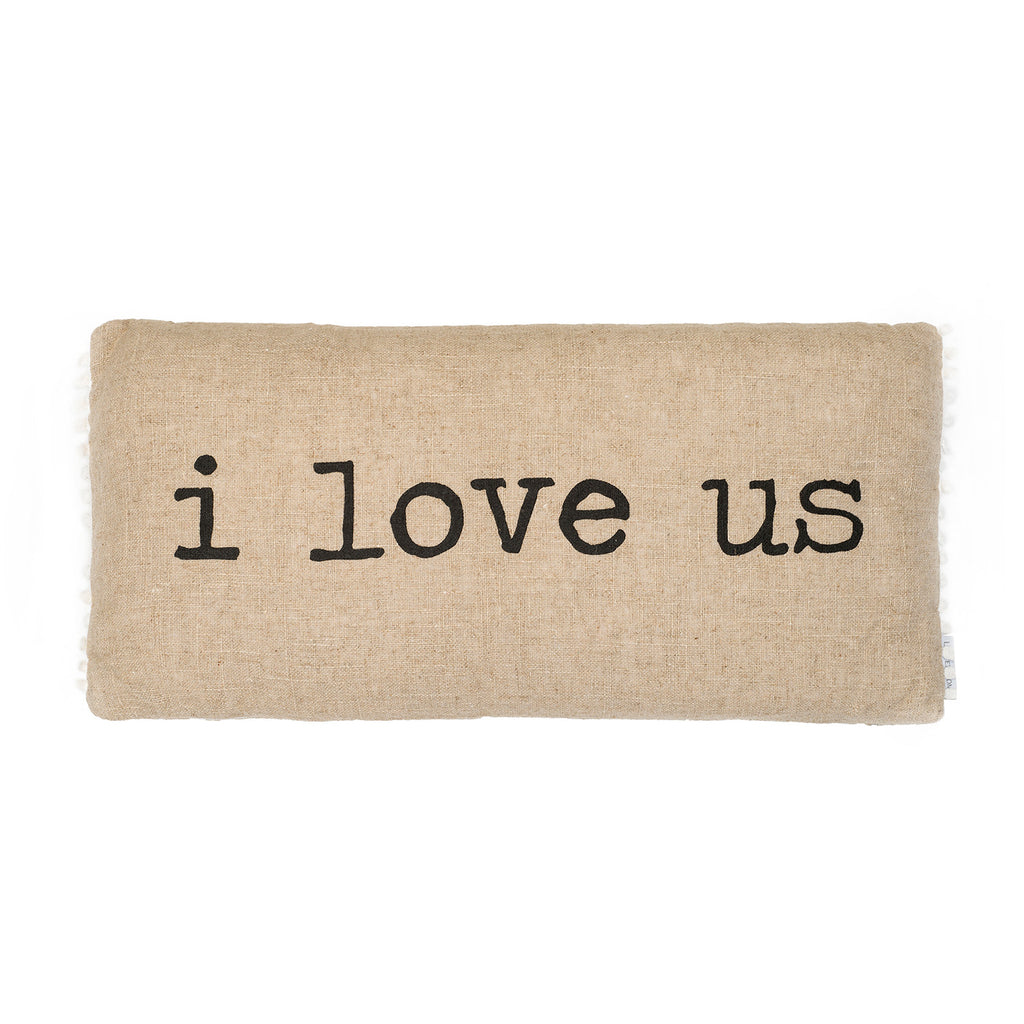 I Love Us Decorative Pillow