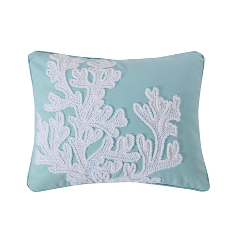 Icaria Crewel Stch Coral Pillow