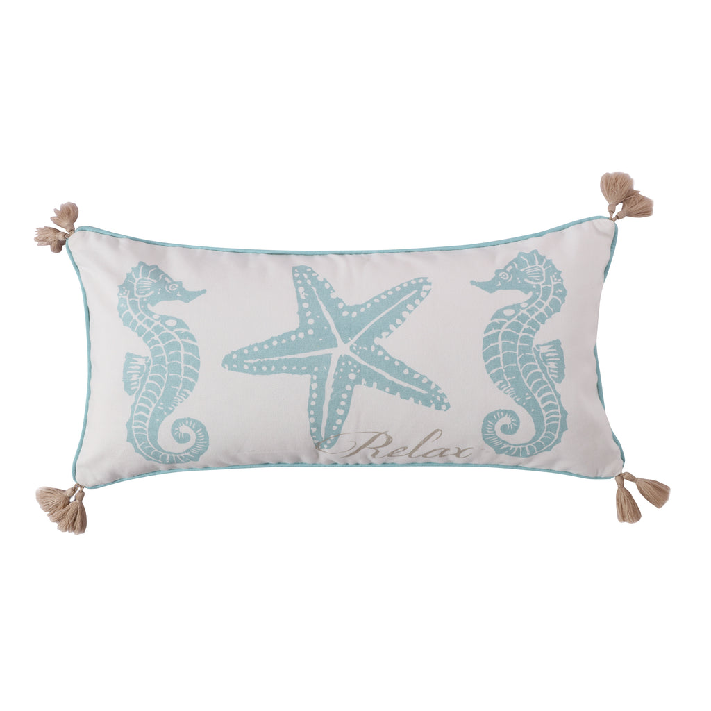 Icaria Relax Emb Tassel Pillow