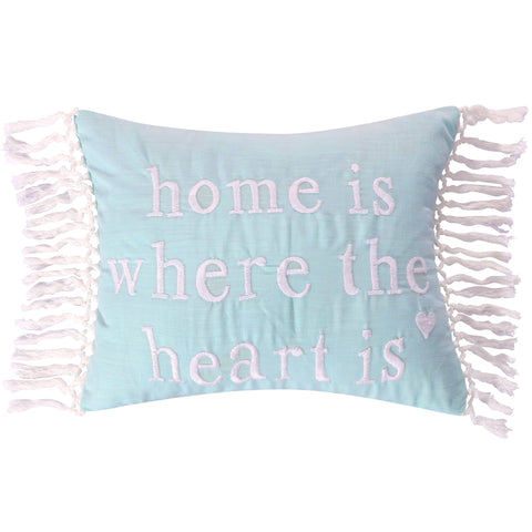 Josie Spa Home is Where Heart Pillow