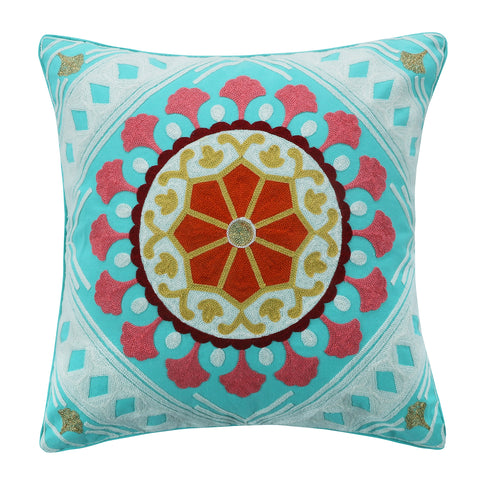 Amisha Multi Stitch Diamond Geo Pillow