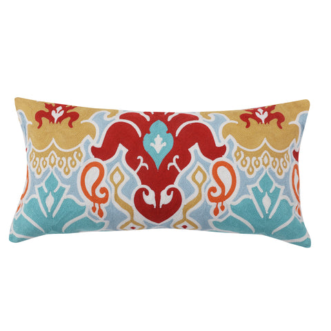 Amisha Ikat Damask Multi Pillow