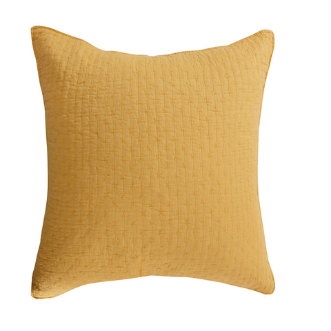 Cross Stitch Yellow Euro Sham Set