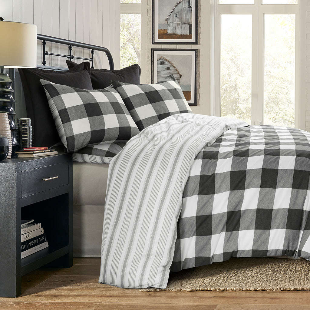 Camden Black Duvet Set