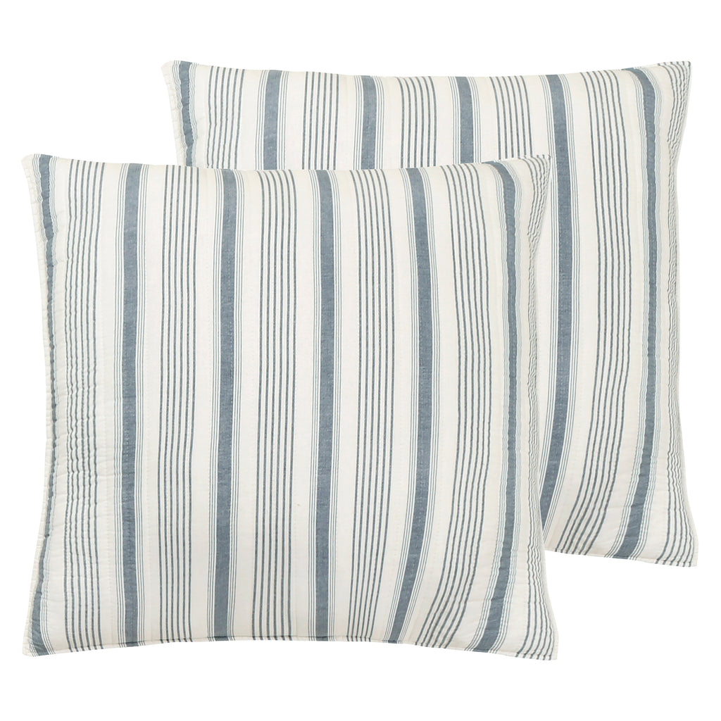 Camden Navy Euro Sham Set of 2-Stripe