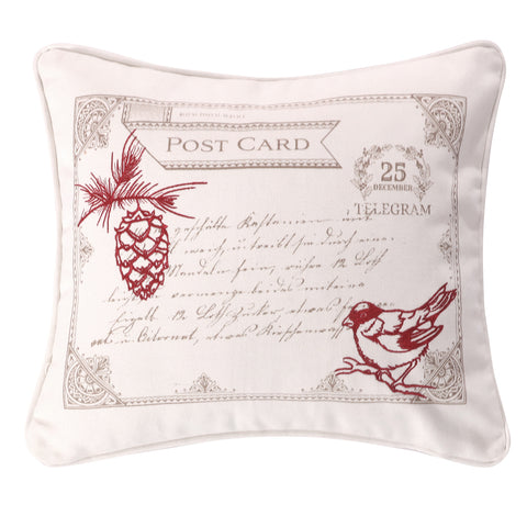 Noelle Bird Postcard Pillow