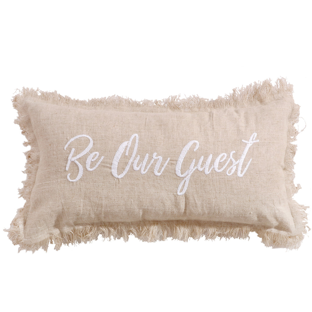 Pembroke Spa Be Our Guest Burlap Pillow