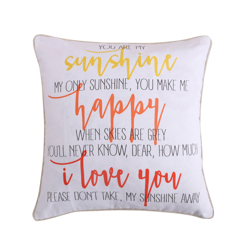 Laurel Coral Sunshine Happy Pillow