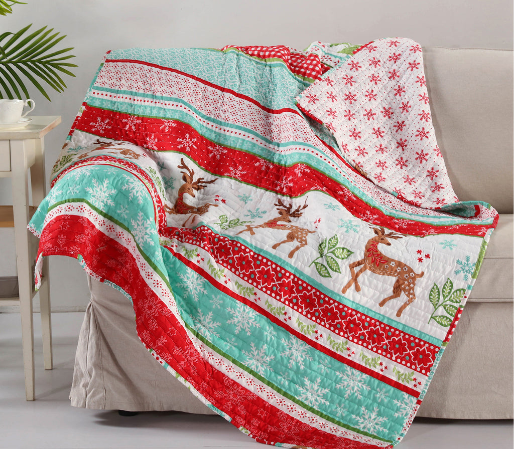 Let It Snow Quilted Throw