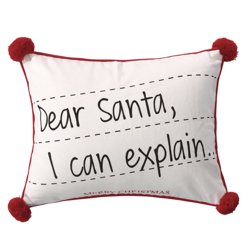 Santa Claus Lane Postcard Pom Pillow