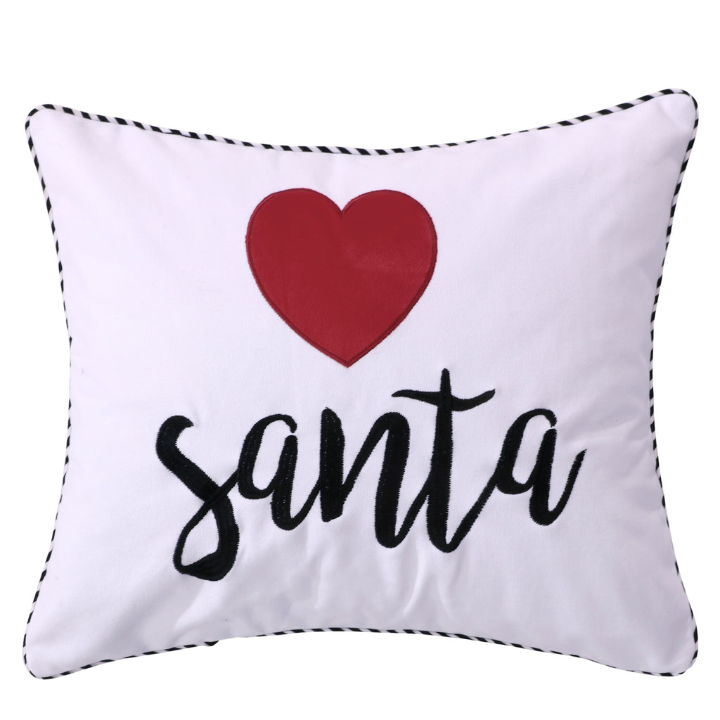 Rudolph Heart Santa Pillow
