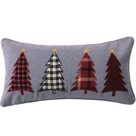Rudolph Appliqued Trees Pillow
