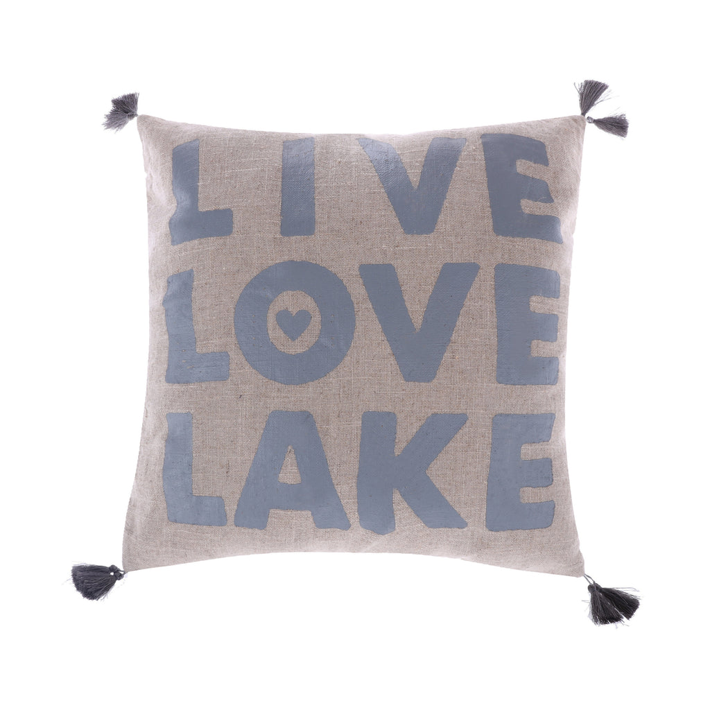 Live Love Lake withTassels Pillow
