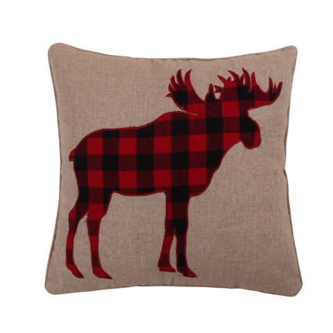 Lodge Sparkle Moose Icon Pillow