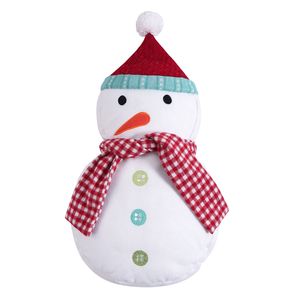 Merry & Bright Holly Jolly Snowman Pillow