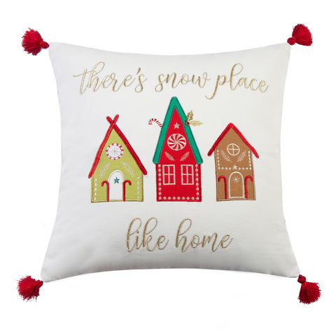 Merry & Bright Gnome for the Holidays Home Pillow