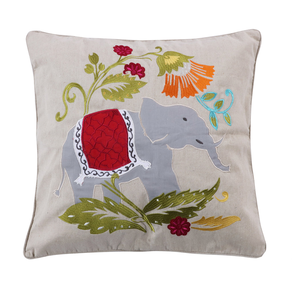 Marielle Grey Elephant Pillow