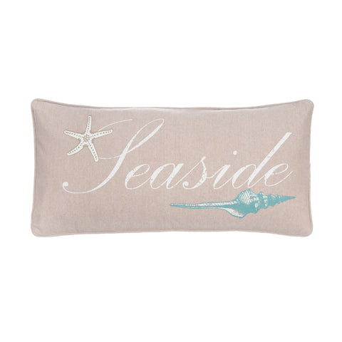 Marine Dream Seaglass seaside 12x24 Pillow