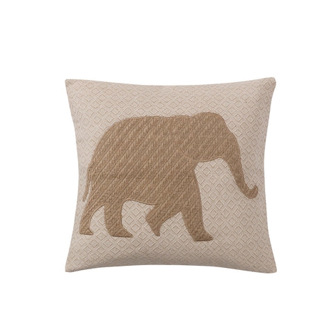 Maybelle Basketweave Elephant Pillow