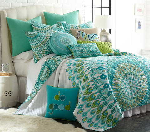 Mirage Teal Quilt Set