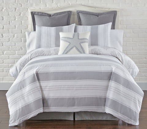 Nantucket Grey Duvet Cover Set