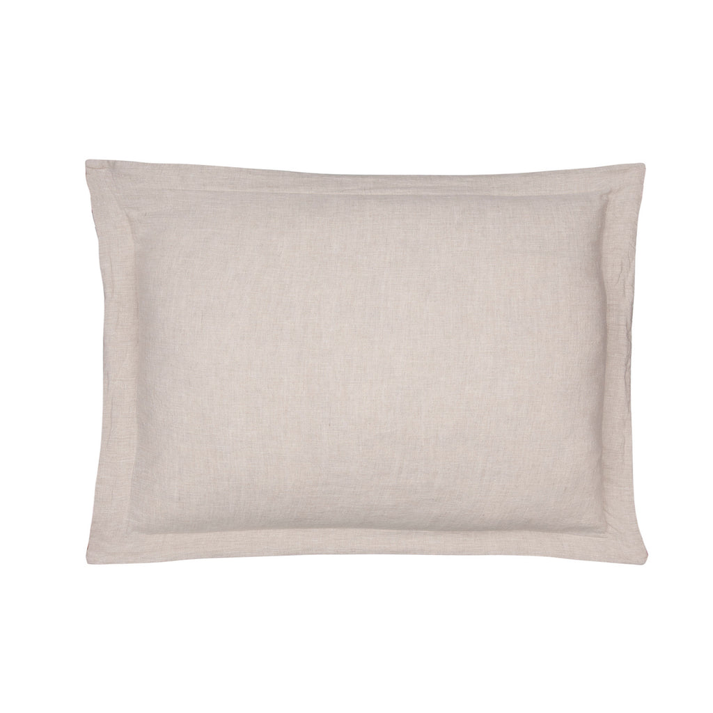 Washed Linen Natural K Sham w Natural Flange