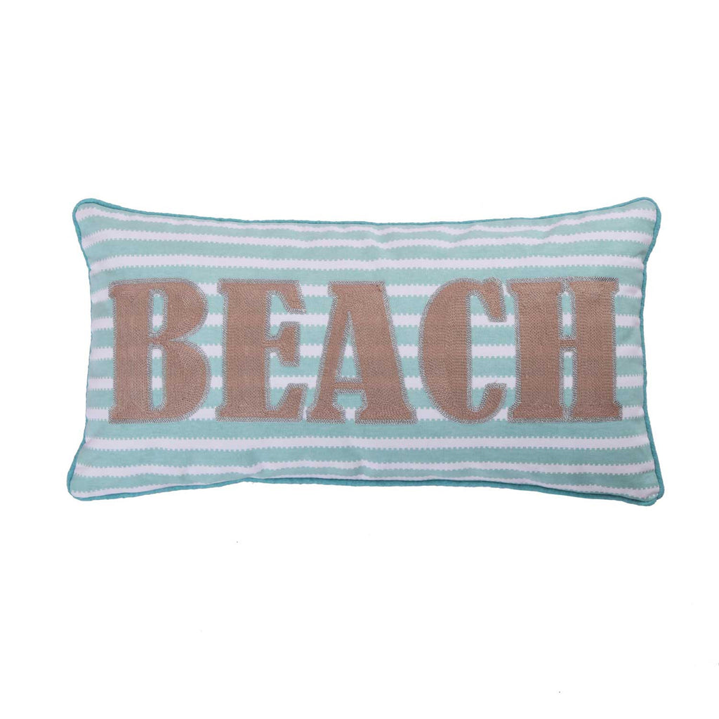 Ocean Springs Beach Stripe Pillow
