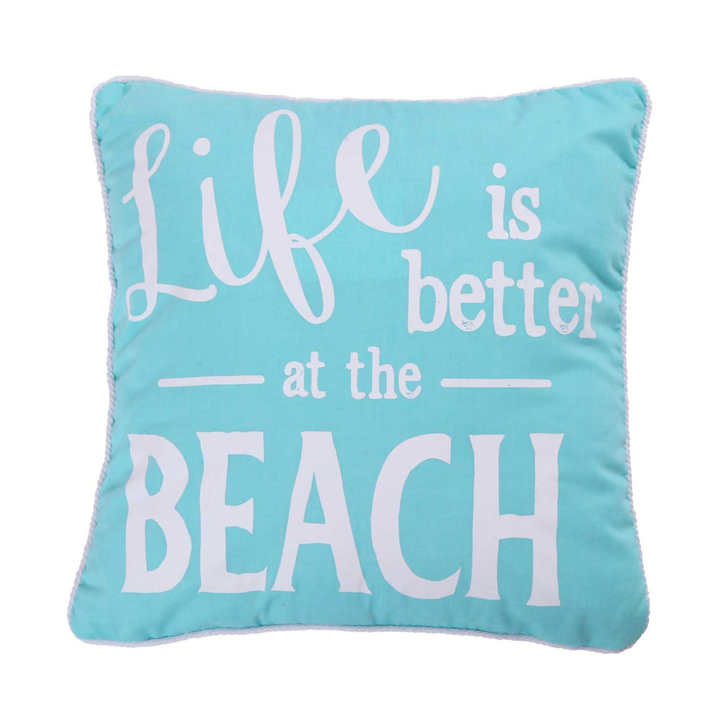 Ocean Springs Life Better Beach Pillow