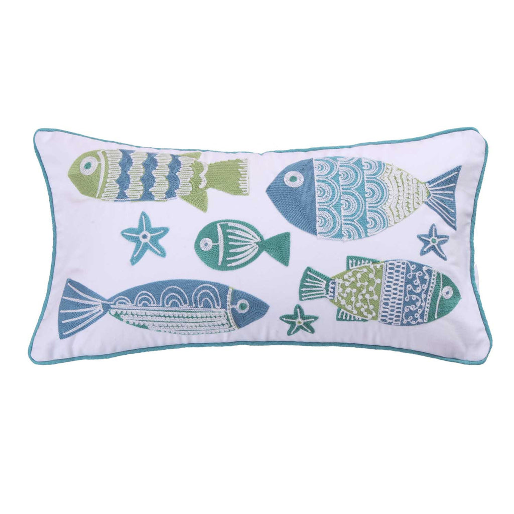 Ocean Springs Screenprint Fish Pillow