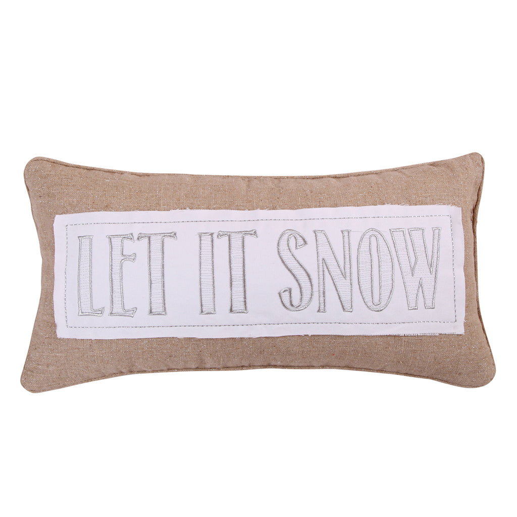 Silent Night Let it Snow Pillow