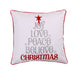 Silent Night Love Joy Peace Pillow