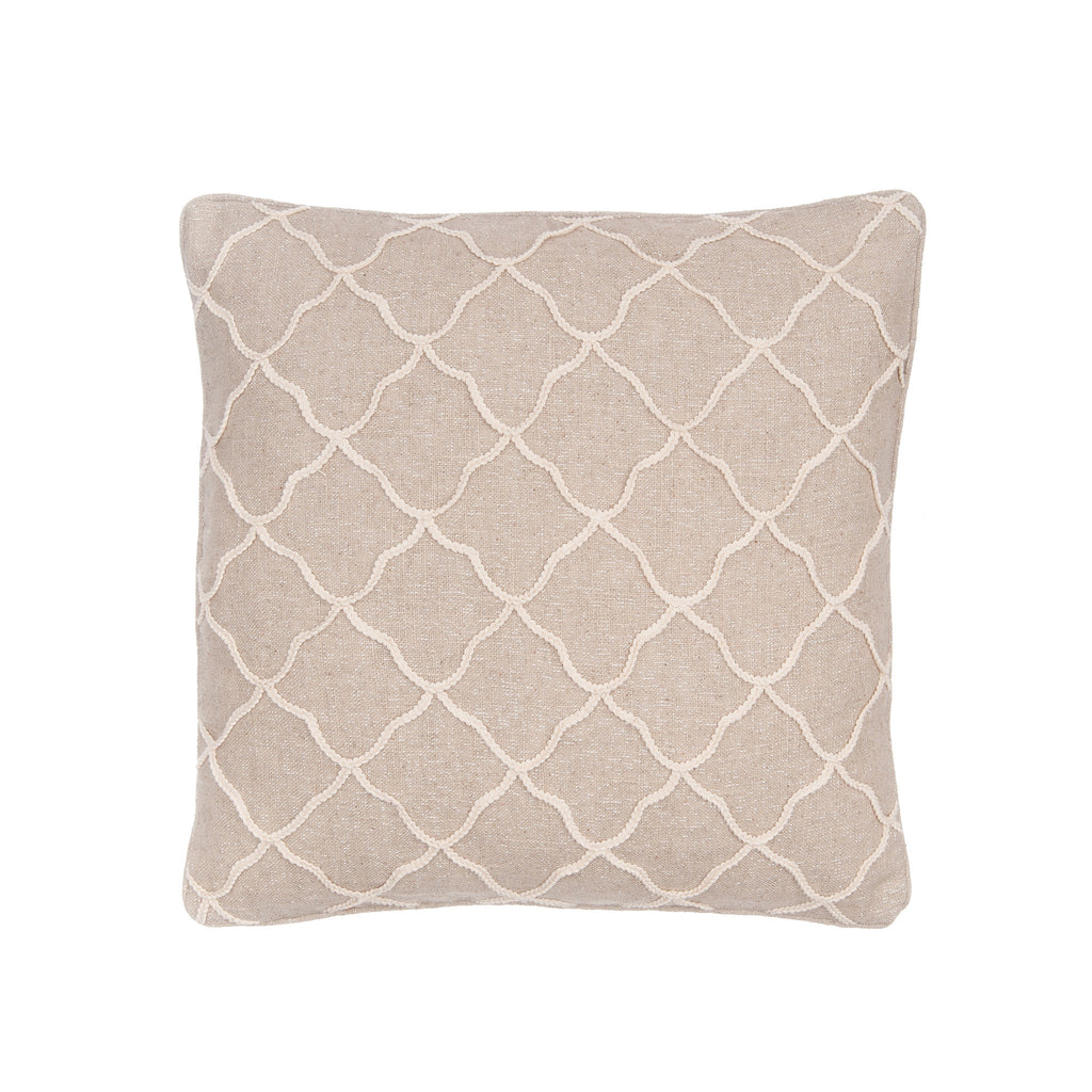 Palladium Rope Sparkle burlap Pillow