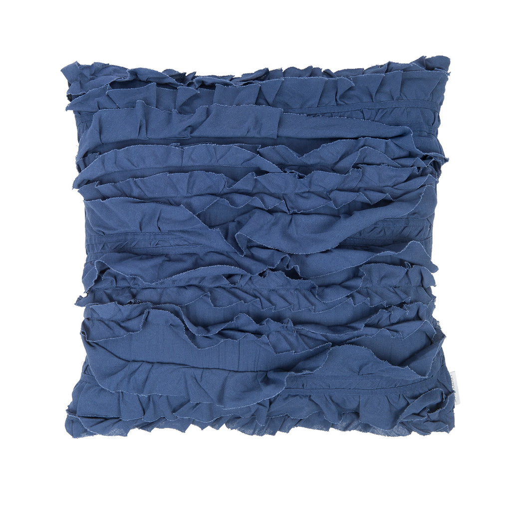 Petunia Linen Pillow Navy