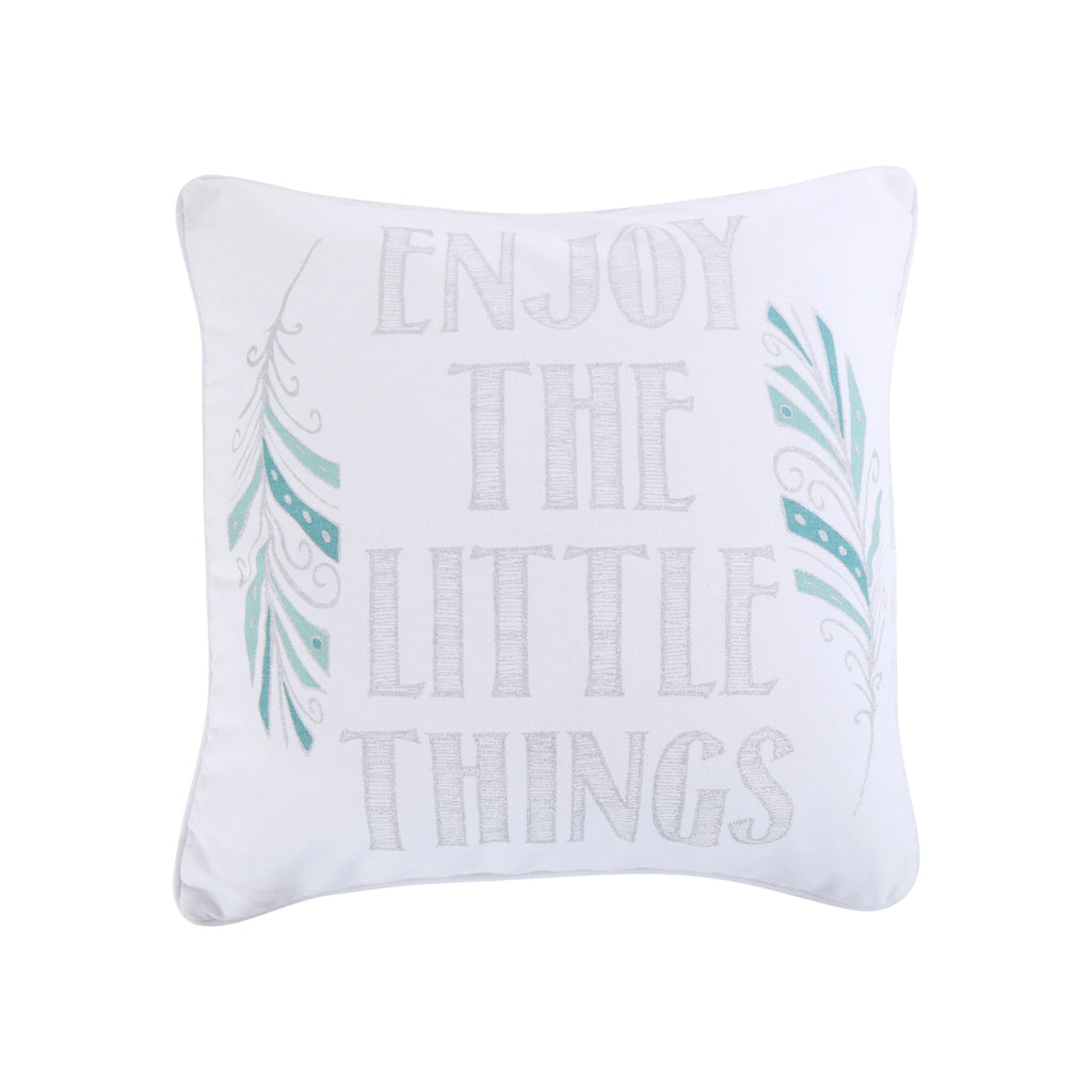 Spa Pintuck Enjoy the Little Things Pillow