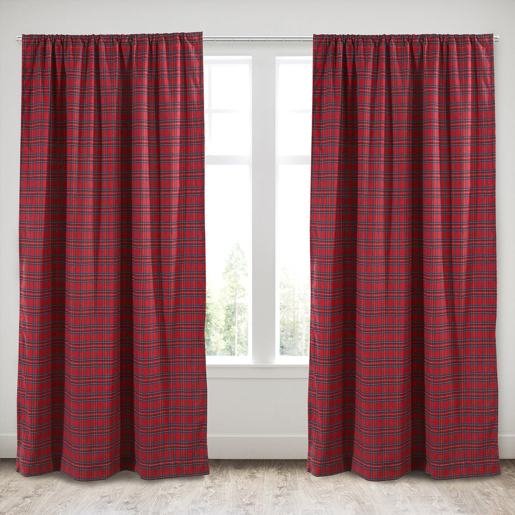 Plaid Fur Drape Panel