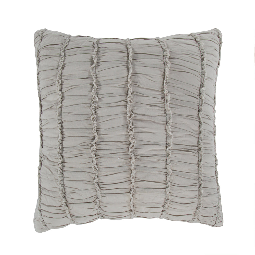 Taupe Ruched Euro Sham