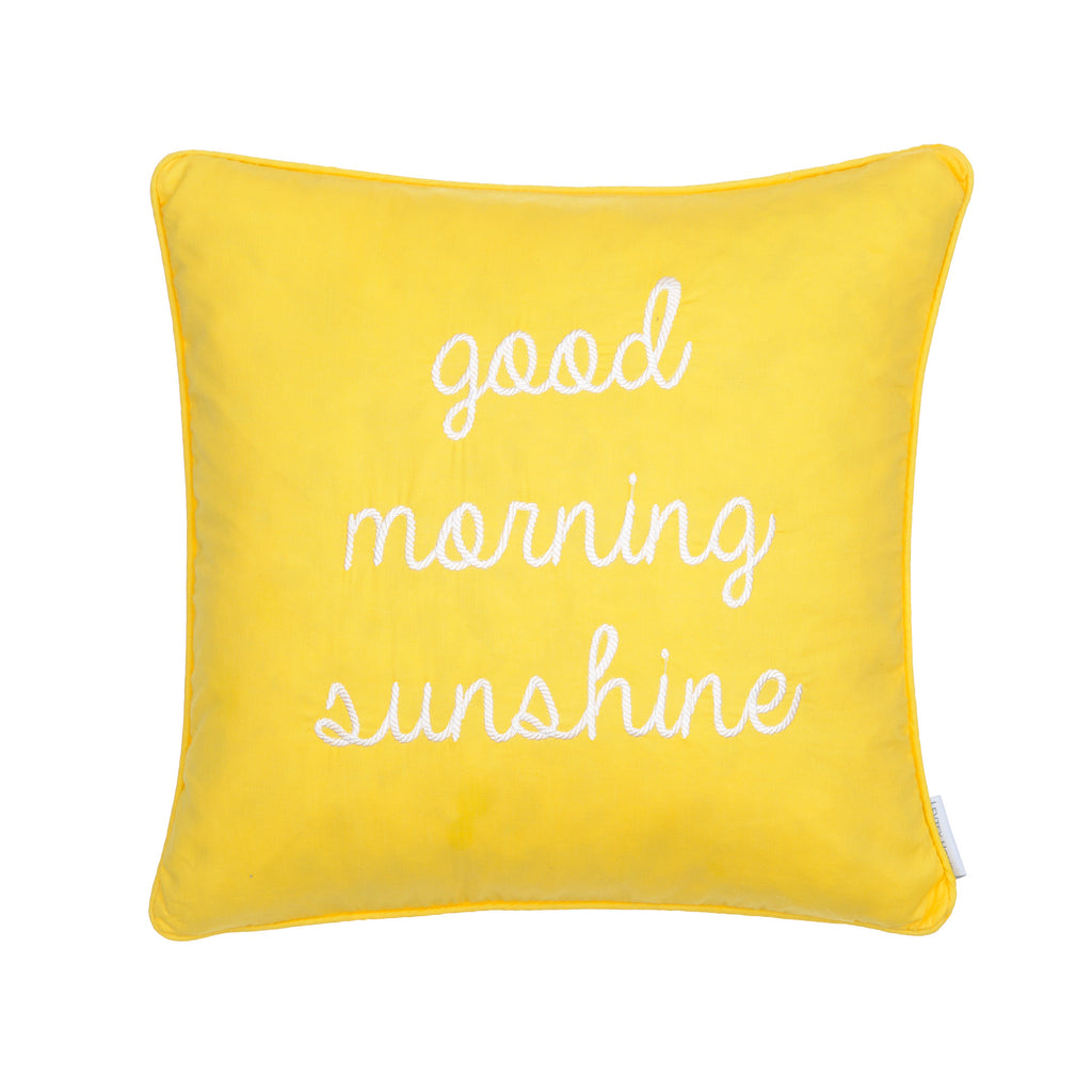 Yellow Good Morn. Sunshine Pillow
