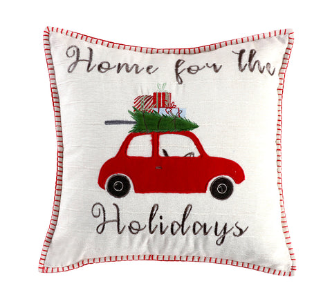 Road Trip Home For the Hollidays Pillow