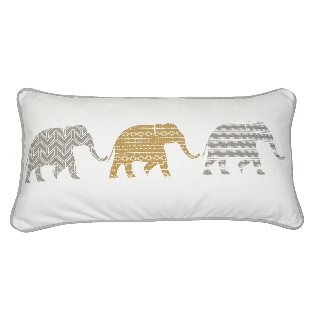Samara Almond 3 Elephant Pillow
