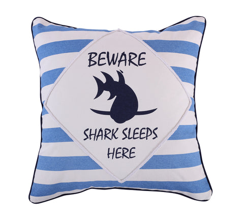 Sammy Shark Beware Pillow