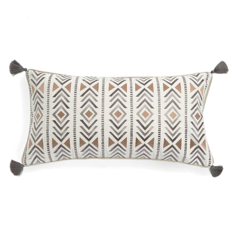 Santa Fe Embroidered with Tassel Pillow
