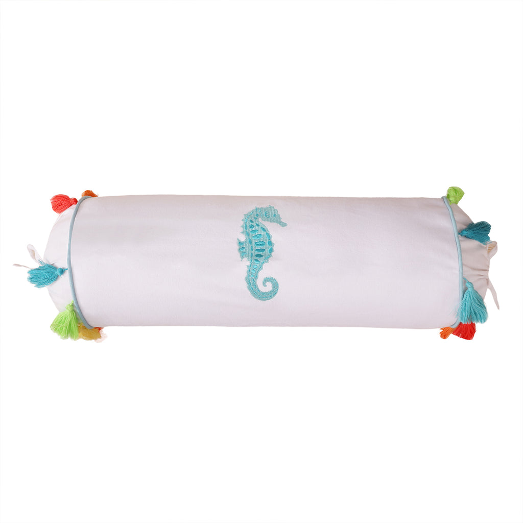 Seahorse Embroidered Neckroll